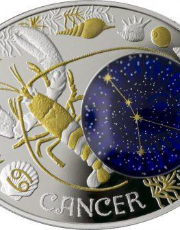 """Сребърна монета """"Зодиакални знаци – Рак"""""""