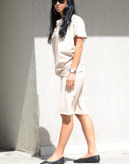 Стилна рокля с къс ръкав Kotyto