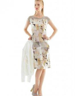 Бежова рокля CONQUISTA