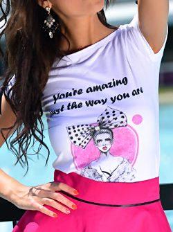 Дамска тениска с щампа DPmoda