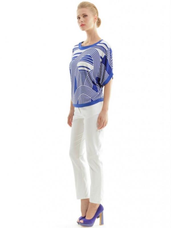 Дамска блуза в синьо и бяло CONQUISTA