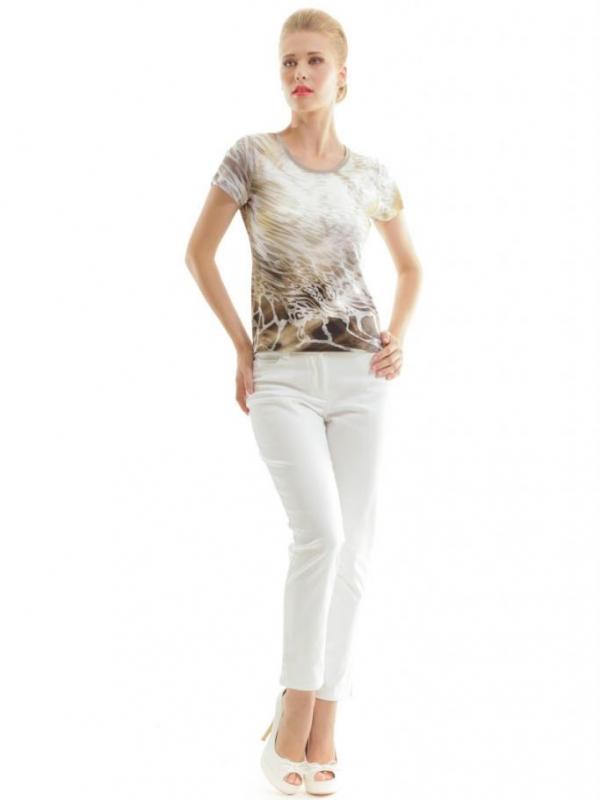 Дамска блуза с къс ръкав CONQUISTA в бежово