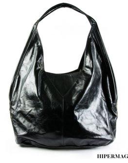 Черна дизайнерска чанта от естествена кожа Kotyto