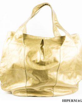 Дамска чанта от естествена кожа Kotyto в черен цвят
