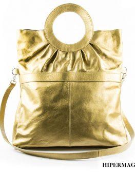 Черна дамска чанта от естествена кожа Kotyto