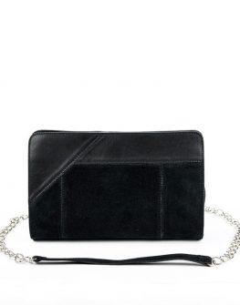 Дамска велурена чанта тип плик Kotyto
