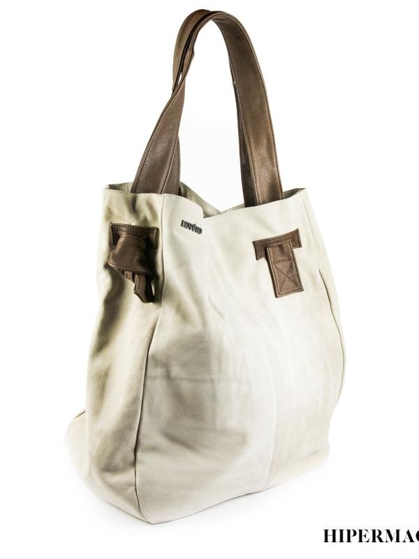 Дизайнерска дамска чанта в бежово Kotyto