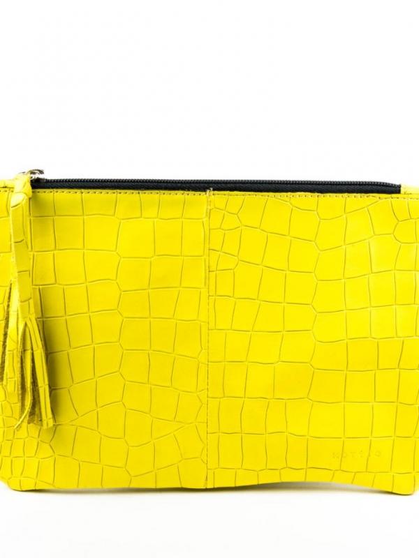 Стилен клъч в жълто Kotyto