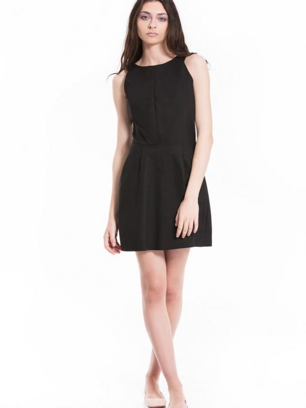 Черна дизайнерска къса рокля Pulse