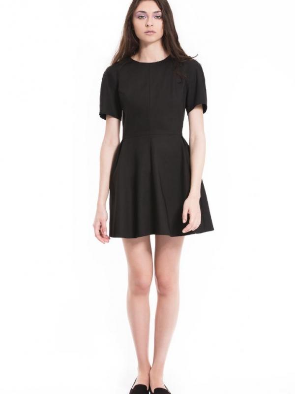 Къса дизайнерска рокля в черно Pulse