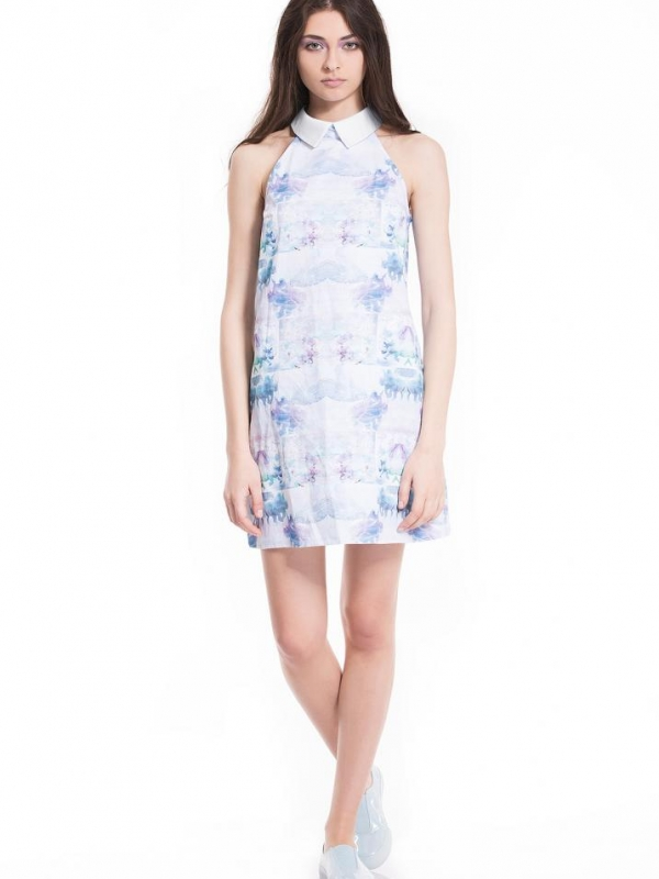 Дизайнерска рокля в пастелни цветове Pulse
