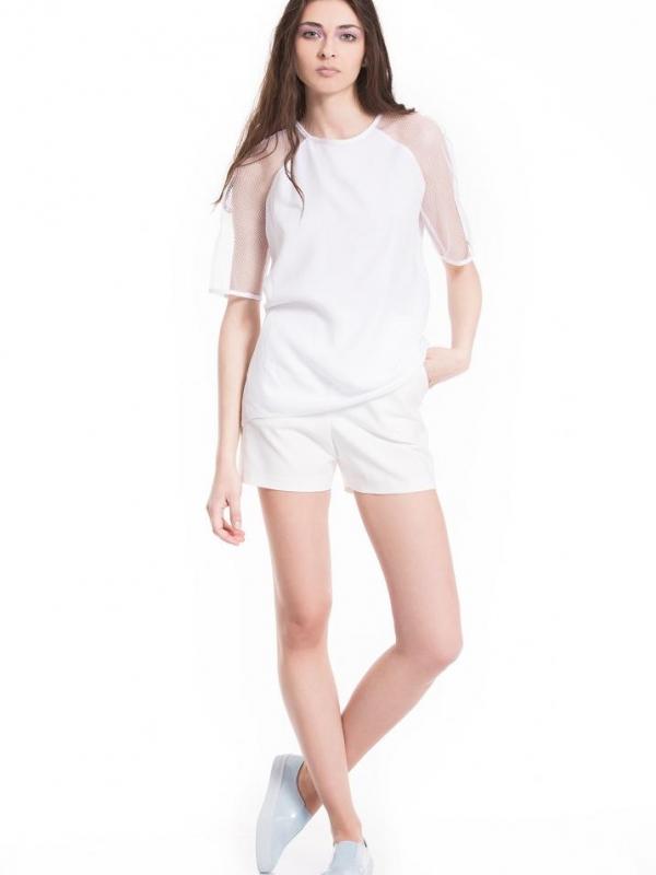 Къси панталонки в бял цвят Pulse