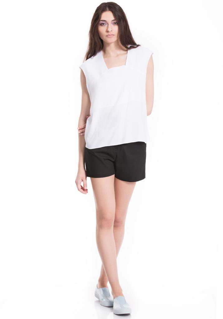 Дизайнерска бяла блуза без ръкав Pulse