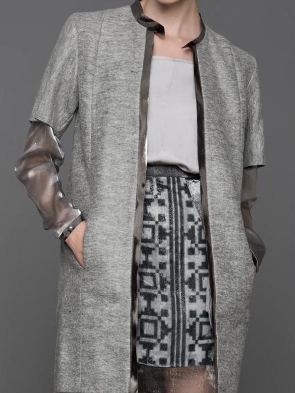 Дизайнерско палто в сив цвят Pulse