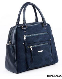 Удобна дамска чанта в син цвят Sara Pen