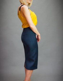 Дизайнерски потник в жълто Aggata