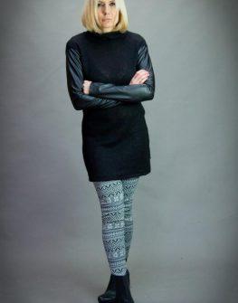 Дизайнерски клин с черно – бели фигури Aggata