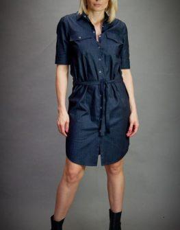 Дизайнерска рокля в тъмносиньо Aggata