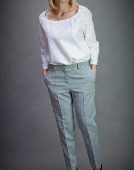 Дамски панталон в сиво Aggata