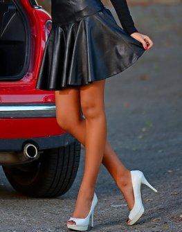 Дамска кожена пола DPmoda