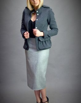 Тъмносиво дамско сако Aggata
