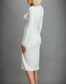 Стилна рокля в цвят екрю Aggata