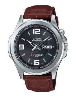 Мъжки часовник с кафява каишка CASIO