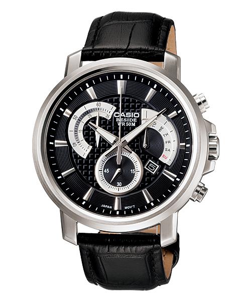 Мъжки часовник с кожена каишка Casio