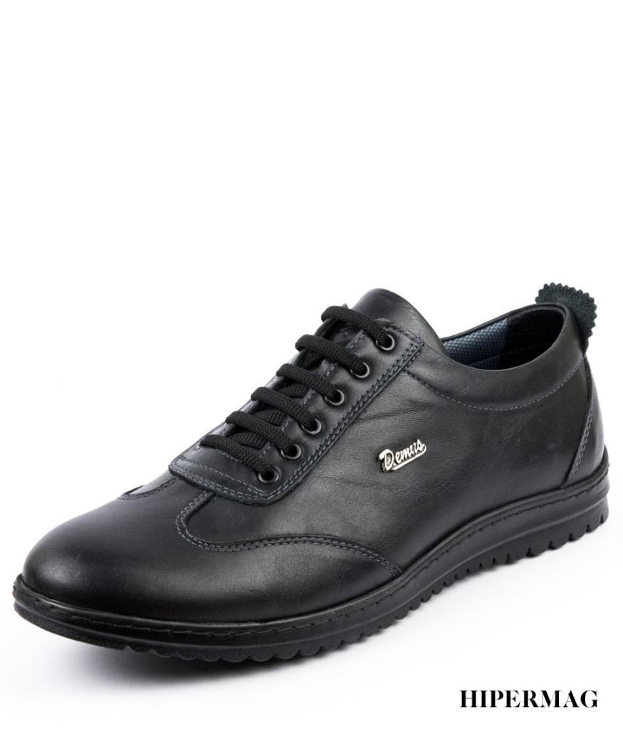 Черни мъжки обувки с връзки Balis
