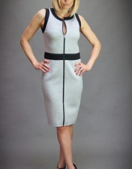 Спортно - елегантна рокля в сиво Aggata