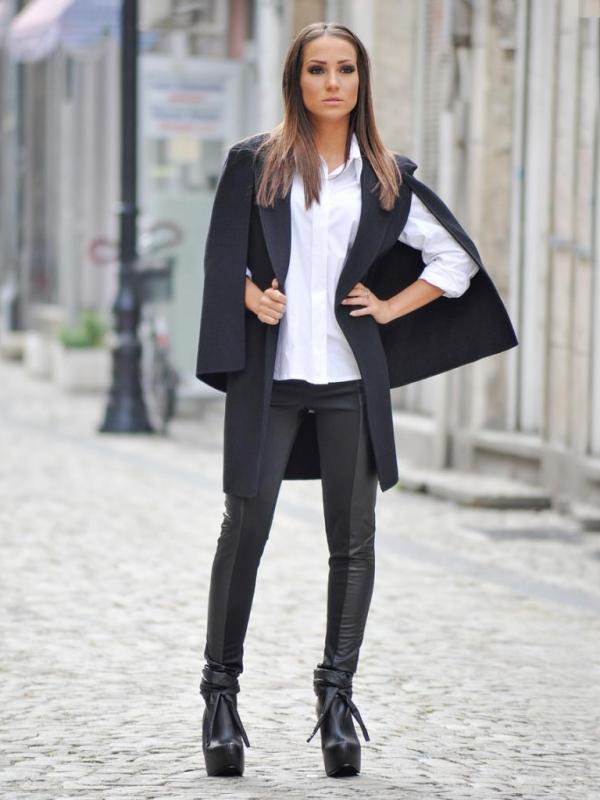 Елегантно дамско палто La Speciale