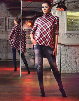 Ефектна карирана блуза с 34 ръкав La Speciale