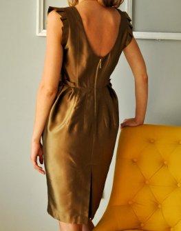 Дизайнерска бронзова рокля Tania