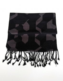 Елегантен шал в сиво и черно Styler