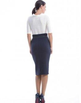 Синя пола с висока талия CONQUISTA