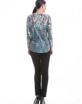 Стилна цветна блуза CONQUISTA