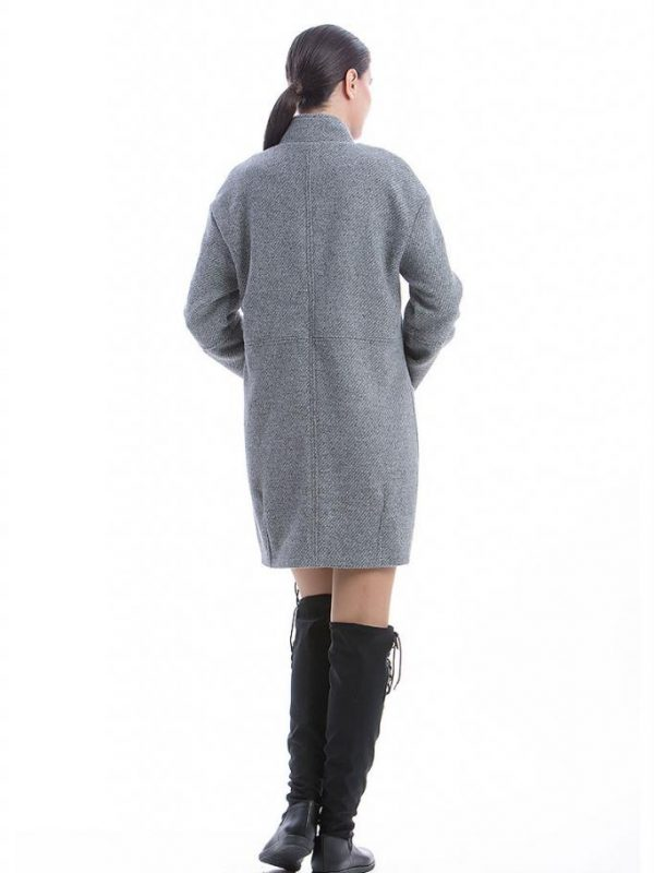 Дизайнерско палто в сиво CONQUISTA