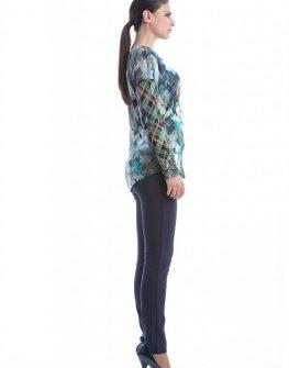Дамска блуза с дълъг ръкав  синьо CONQUISTA