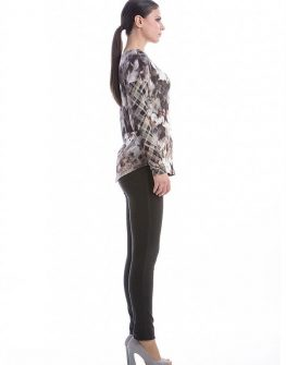 Стилна блуза с дълъг ръкав с цветя CONQUISTA