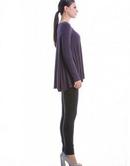 Дизайнерска асиметрична блуза с дълъг ръкав CONQUISTA