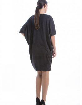 Стилна рокля в цвят графит CONQUISTA