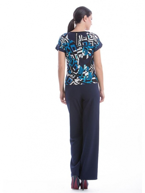 Стилна дамска блуза с къс ръкав CONQUISTA