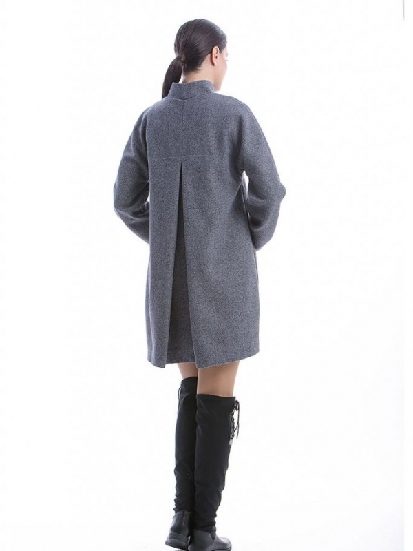 Сиво дамско палто CONQUISTA