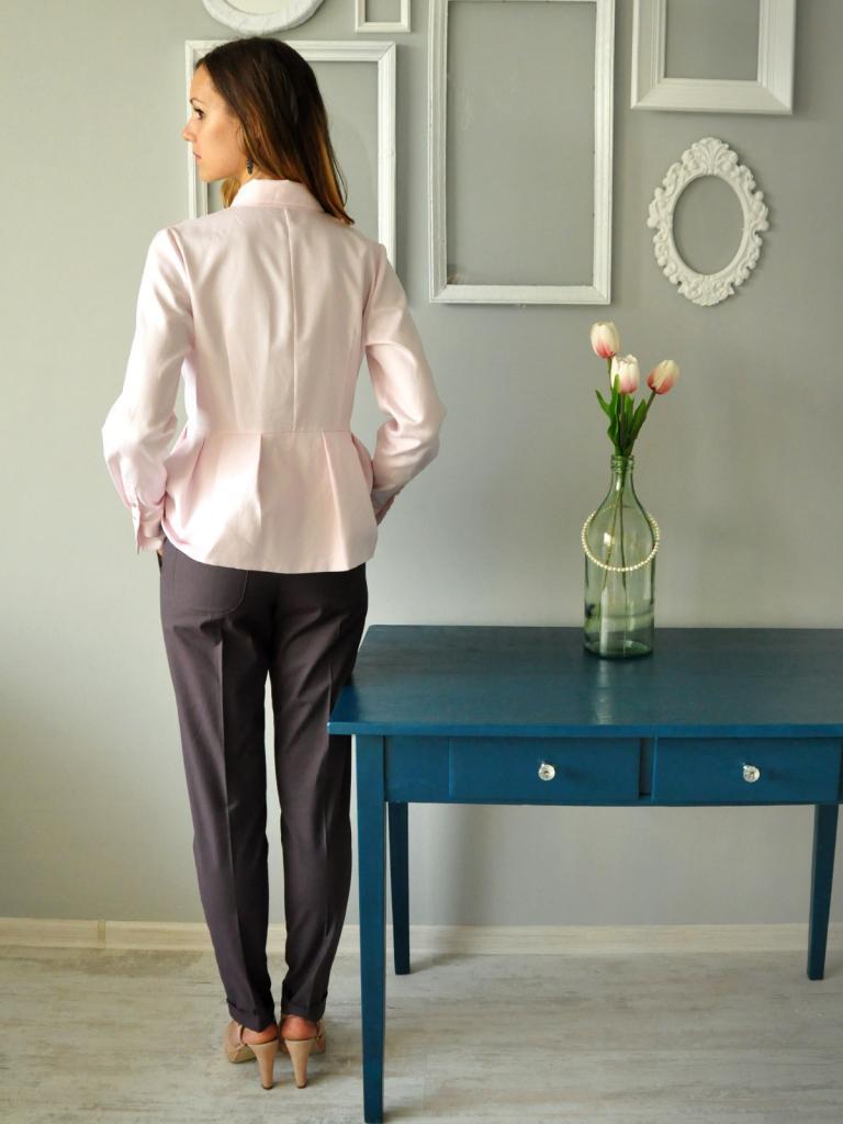 Елегантен панталон в сиво Louis