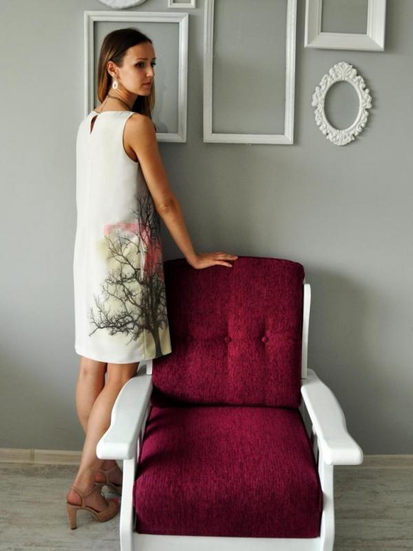 Дизайнерска рокля с пастелен принт Laura