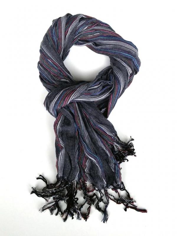 Стилен мъжки шал в сиво Styler