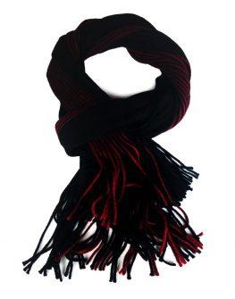 Зимен шал в червено и черно Styler
