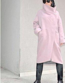 Дизайнерско палто в розово Kotyto