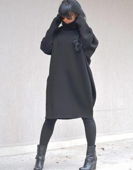 Асиметрична рокля с дълъг ръкав Kotyto