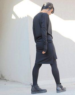 Дизайнерска рокля с дълъг ръкав Kotyto